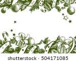 christmas background  christmas ... | Shutterstock .eps vector #504171085