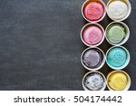 top view ice cream flavors in... | Shutterstock . vector #504174442