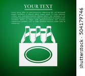 pack of beer flat icon on green ... | Shutterstock .eps vector #504179746