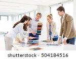 team of design professionals... | Shutterstock . vector #504184516