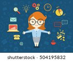 vector illustration of young... | Shutterstock .eps vector #504195832