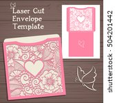 lasercut vector wedding... | Shutterstock .eps vector #504201442