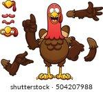 cartoon turkey. vector clip art ...