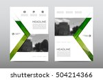 brochure layout template flyer... | Shutterstock .eps vector #504214366
