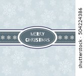 merry christmas card. the... | Shutterstock .eps vector #504224386