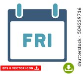 friday calendar page icon.... | Shutterstock .eps vector #504239716