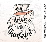 vector illustration of happy... | Shutterstock .eps vector #504251752