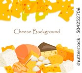 various types of cheese healthy ... | Shutterstock .eps vector #504252706