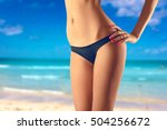 female squeezing buttock and... | Shutterstock . vector #504256672