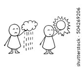cute vector icons. weather... | Shutterstock .eps vector #504269206
