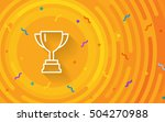 vector cup. thin line victory... | Shutterstock .eps vector #504270988
