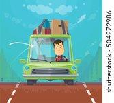 trendy flat design vehicle... | Shutterstock .eps vector #504272986