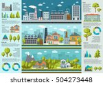 urban life infographics with... | Shutterstock .eps vector #504273448