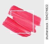 textured brush painted... | Shutterstock .eps vector #504274822