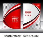 red cover template  cover... | Shutterstock .eps vector #504276382