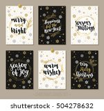 set christmas and happy new... | Shutterstock .eps vector #504278632