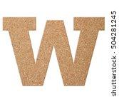 cork board font letter of... | Shutterstock . vector #504281245