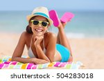 Summer Woman Relaxing In...