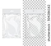 set of blank 3d glossy hang... | Shutterstock . vector #504286162