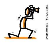 stick man is a photographer....   Shutterstock .eps vector #504286558