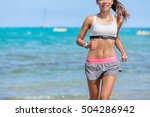 fitness lifestyle. runner woman ... | Shutterstock . vector #504286942