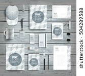 corporate identity stationery... | Shutterstock .eps vector #504289588