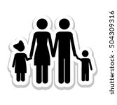 conventional family pictogram... | Shutterstock .eps vector #504309316