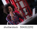 portrait of a young successful... | Shutterstock . vector #504312292