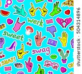 vector seamless pattern with... | Shutterstock .eps vector #504314896