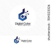 colorful letter d logo design... | Shutterstock .eps vector #504323326