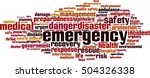 emergency word cloud concept....   Shutterstock .eps vector #504326338