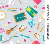 back to school abstract... | Shutterstock .eps vector #504326656