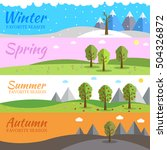 season icon set of nature tree... | Shutterstock .eps vector #504326872