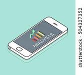 finance economic progress... | Shutterstock . vector #504327352