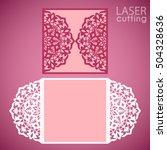 laser cut wedding invitation... | Shutterstock .eps vector #504328636
