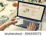 shopping internet digital... | Shutterstock . vector #504335272