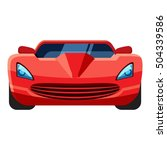 red sport car icon. ... | Shutterstock .eps vector #504339586