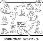 black and white cartoon... | Shutterstock .eps vector #504345976