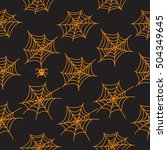 seamless patterns with cobweb.... | Shutterstock . vector #504349645