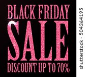 black friday sale black tag ... | Shutterstock .eps vector #504364195