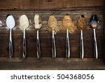 different kinds of sugar in the ... | Shutterstock . vector #504368056