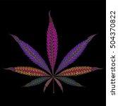 marijuana. color vector... | Shutterstock .eps vector #504370822