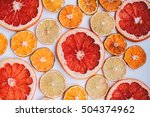 Background Of Dried Citrus.