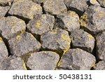 Big Basalt Rocks Covered With...