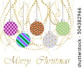 beautiful christmas card with ... | Shutterstock .eps vector #504382966