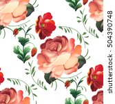 seamless pattern in russian... | Shutterstock . vector #504390748