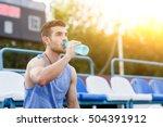 man in summer sport shirt... | Shutterstock . vector #504391912