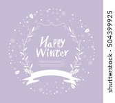 winter frame design background | Shutterstock .eps vector #504399925