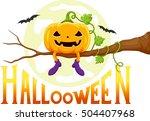 for halloween   funny pumpkins... | Shutterstock . vector #504407968