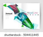 triangles and lines  annual... | Shutterstock .eps vector #504411445